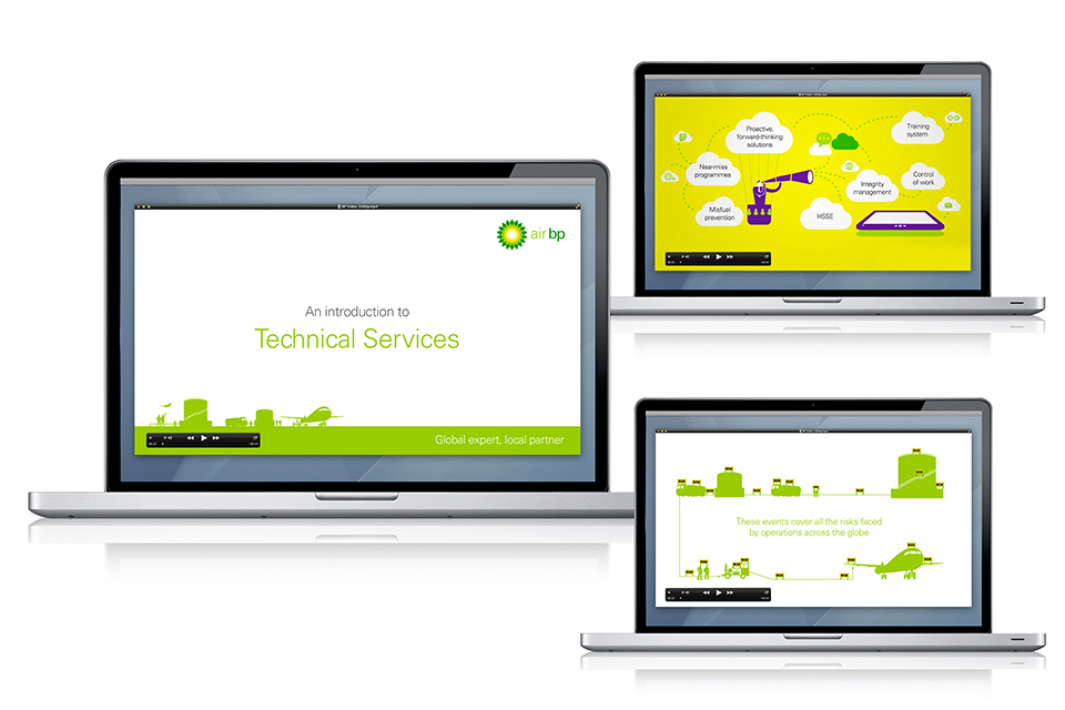 Animated video for Air BP's Technical Services offer