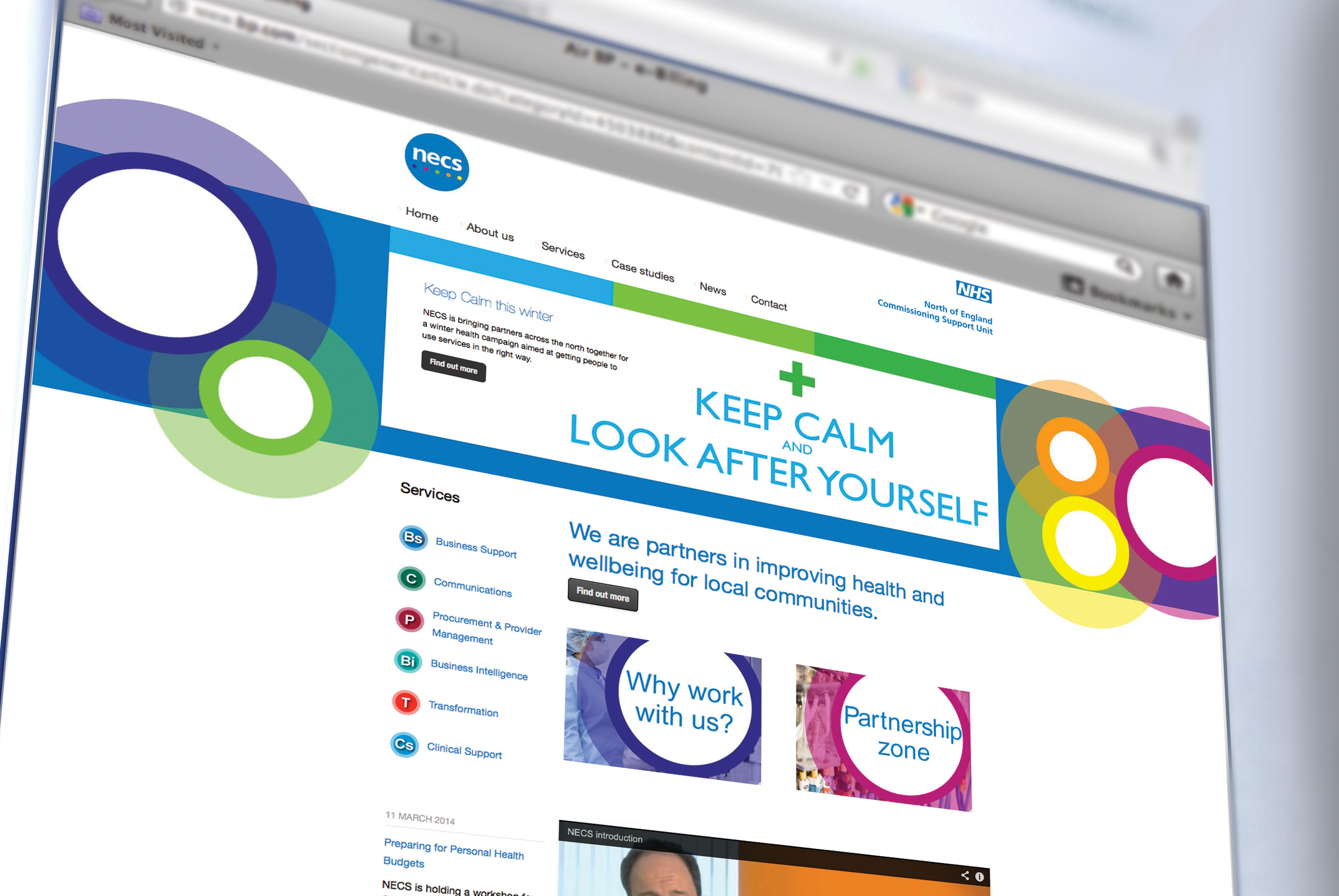 Brand design for North of England Commissioning Support