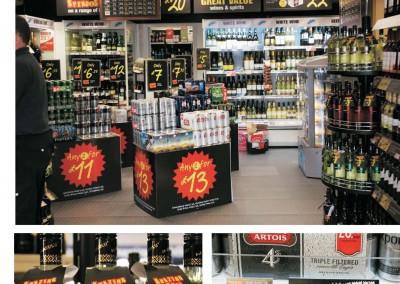 Rebranding Martin McColl Beers & Wines shop