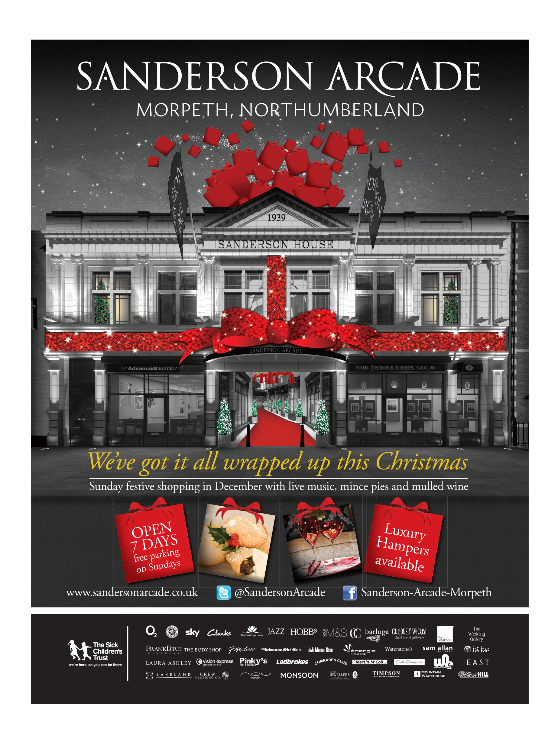Christmas Campaign for Sanderson Arcade