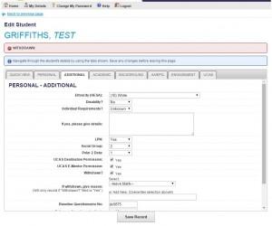 Bespoke web application development: University Database Systems