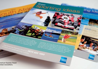 Displays and newsletters for American Express