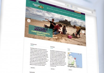 Brand and website for Budle Bay Croft