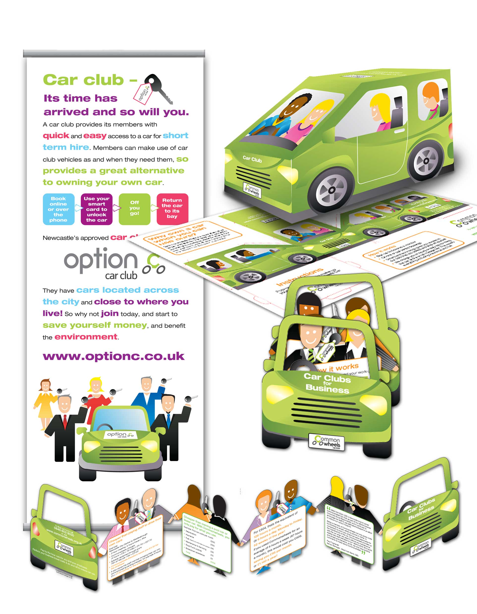 Commonwheels car club direct mail